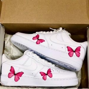 Nike Air Force 1 Custom Butterflies Shoes